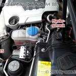 Audi A4 B8 Marderschutz Einbau Motorraum